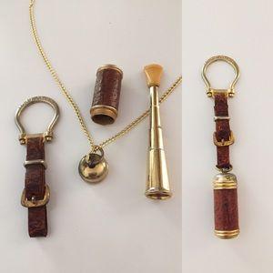 1940's Italian Cigarette Holder Necklace KeyChain